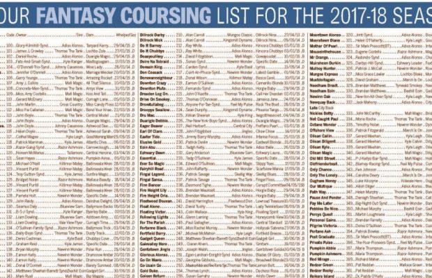Fantasy Coursing List 1a